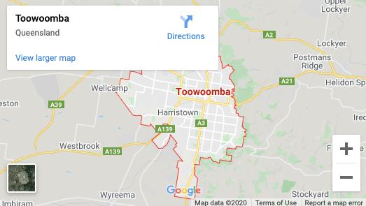 Toowoomba-map