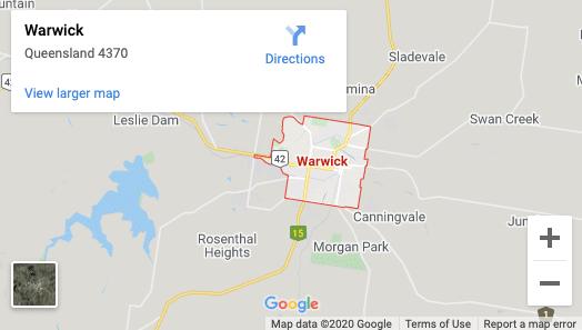 Warwick-map