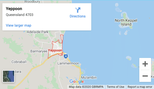 Yeppoon-map